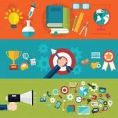 Flat design illustration concepts for creative process, web design & development,educati on and branding. — Stock Vector