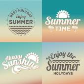 Retro elements for Summer calligraphic designs. Vintage ornaments, All for Summer holidays, tropical paradise — Vector de stock