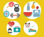 Healthy lifestyle vector concept — 图库矢量图片