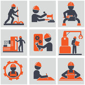 Computer service and Engineering vector icons set — Stock Vector