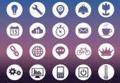 Flat icons set of miscellaneous icons for web and ux platforms — Stock Vector