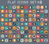 большой набор плоских векторных символов с современными цветами — Cтоковый вектор