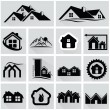 Houses icons set. Real estate — Stock Vector #60342031