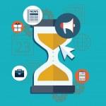 Sand clock modern vector time management illustration — Stock Vector #60342065