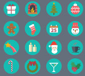Merry Christmas, new year icon set. Vector illustration. Winter Holidays — Stock Vector