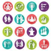 Conjunto de iconos de recursos humanos y gestión. — Vector de stock
