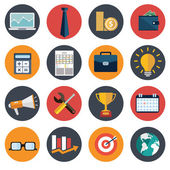 Flat business icon set. business items — Stock Vector