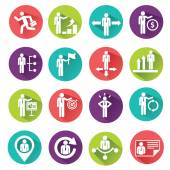 Human resources and management icons set. — Stock Vector