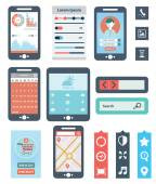 Mobile UX design Flat Interface. — Stock Vector