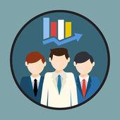 Human Resource, businessman analytics — Stock Vector