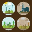 Постер, плакат: Icons of ecology environment and pollution
