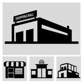 Shop, shopping mall — Stock Vector