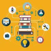 L'enseignement et l'apprentissage en ligne — Vecteur