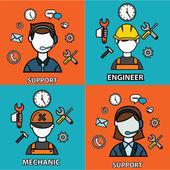 Engineering, mechanic and support — Vecteur