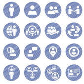 Set of social management  icons — Stock Vector