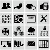 Computer technology icons set — Stock Vector