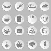Flat design food icons — Stock Vector