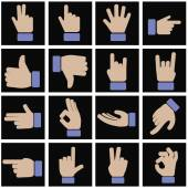 Set of hands gestures — Stock Vector