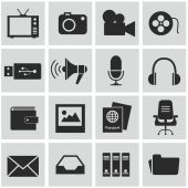 Set of computer media icons — Stockvektor