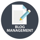 Icon of blog management — Vettoriale Stock