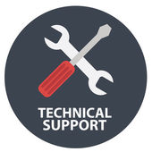 Icon of technical support — Stock Vector