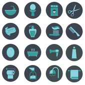 Bathroom icons set — Stock Vector