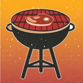 Grill BBQ Cookout — Stock Vector