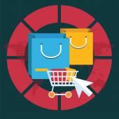 Internet winkelen concept — Stockvector