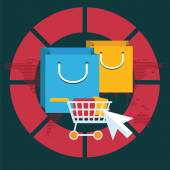 Internet shopping koncept — Stockvektor