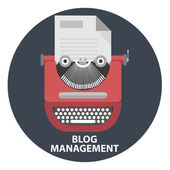 Blog management concept — Stock Vector