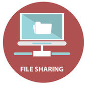 File sharing concept. — Stock Vector