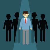 Businessman   leader concept — Stock Vector
