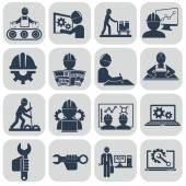 Engineering icons set — Stock Vector