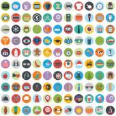 Moderno conjunto de design de ícones planas — Vetor de Stock