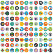 Flat icons design modern set — Stock Vector