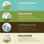 Icons of ecology, environment, contamination — Stock Vector