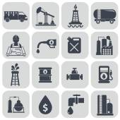 Oil and petroleum icons — Vetor de Stock