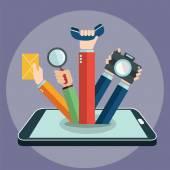 Smart phone concept — Stock Vector