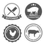 Set of butcher shop labels — Stock Vector #75823637