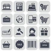 Nastavit nákupní ikon — Stock vektor