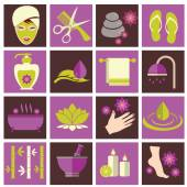 Spa and beauty icons set — Stock Vector