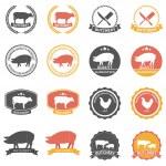 Set of butcher shop labels — Stock Vector #81092022