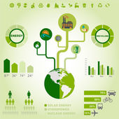 Green ecology, recycling infographics collection — Stock Vector