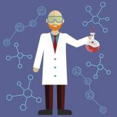 Scientist in science education research lab — Stock Vector