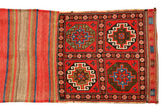 Oriental pouch carpet on white background — Stock Photo