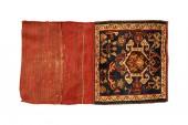 Oriental pouch carpet on white background — Stock Photo