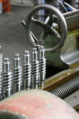 Lathe and cylinders — Stock Photo