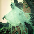 Scary ghost decoration for halloween outside of the house — Stock Photo #55062237