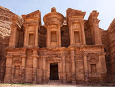 Largest monument in Petra, Monastery (ad Deir) — Stock Photo