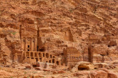 Extraordinary Royal Tombs in Petra, Jordan — Stock Photo
